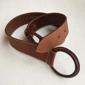 THE LIMITED MADE IN ITALY WOMENS BROWN BELT SIZE S